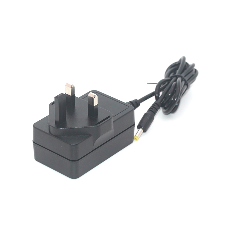 12V2A UK plug with 1.2M DC cable power adapter